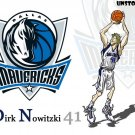 Dirk Nowitzki Macericks Art NBA 32x24 Print Poster
