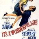 It S A Wonderful Life Retro Movie Vintage 32x24 Print Poster