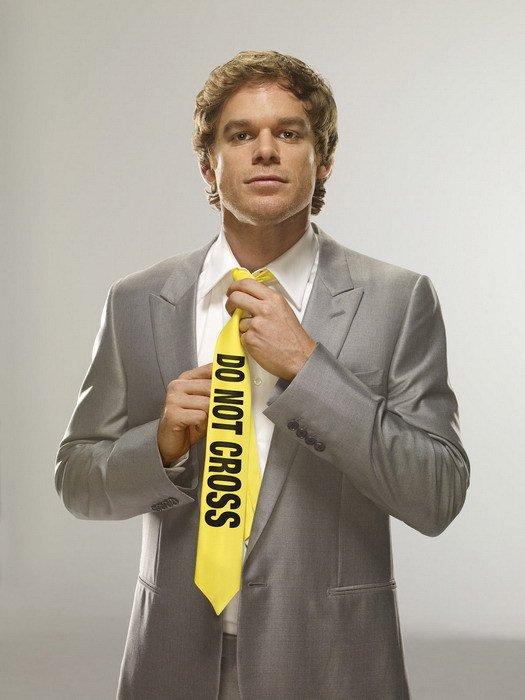 Dexter Do Not Cross Tie TV Series 32x24 Print Poster