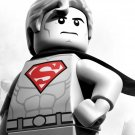 Lego Superman Cool BW Art 32x24 Print Poster