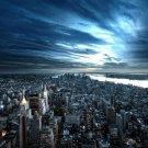 New York NY Night Sky Cityscape 32x24 Print Poster
