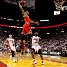Derrick Rose One Handed Dunk NBA Basketball 16x12 Print POSTER
