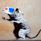 Rat 3D Glasses Banksy Graffiti Street Art 16x12 Print POSTER