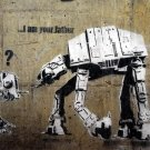 I Am Your Father AT AT Banksy Graffiti Street Art 16x12 Print POSTER
