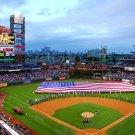 Citizens Bank Park Phillies Baseball American Flag 16x12 Print POSTER