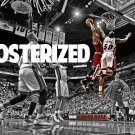 Derrick Rose POSTERized Dunk Bulls Vs Heat Sport 16x12 Print POSTER