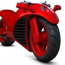 Red Ferrari Concept Bike Motorcycle 16x12 Print POSTER
