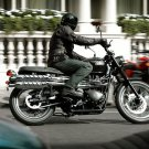 Triumph Scrambler Black Classic Bike 16x12 Print POSTER