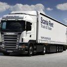 Scania R440 White Truck Trailer 16x12 Print POSTER