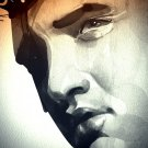Elvis Presley Painting Art Bw Music 16x12 Print Poster