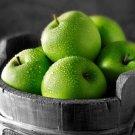 Green Apples Bucket BW Macro 16x12 Print POSTER