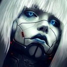 Robotic Cyborg Girl Face Painting Art 16x12 Print Poster