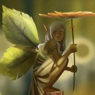 Fairy Leafs Wings Fantasy Elf Artwork 16x12 Print Poster