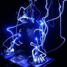Neon DJ Decks Turntables 16x12 Print Poster