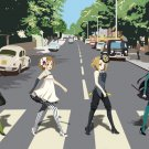 K On Anime Art Abbey Road 16x12 Print Poster