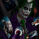 Joker Art Cards Dark Knight Batman 16x12 Print Poster