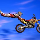 Freestyle Motocross Jump Extreme Sport 16x12 Print Poster