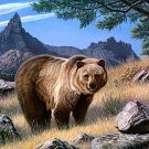 Grizzly Bear Nature Animal Painting Art 16x12 Print Poster
