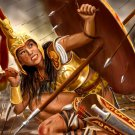 Amazon Woman Warrior Painting Art 16x12 Print Poster