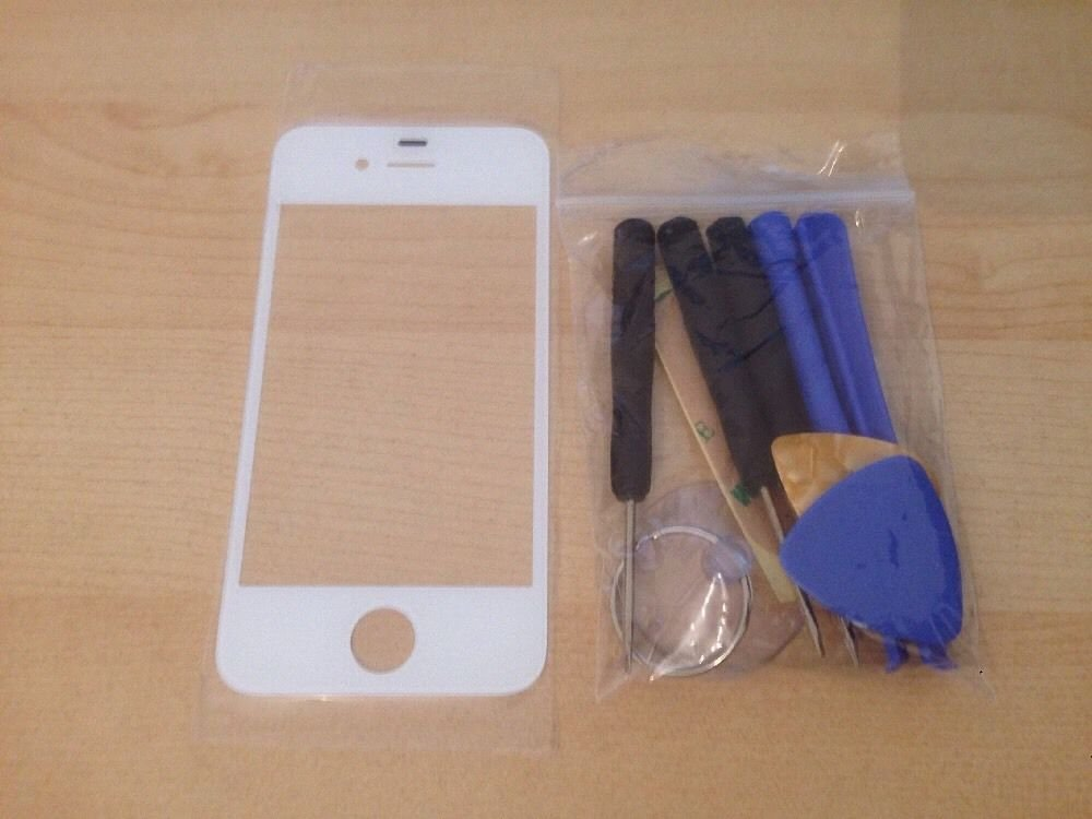 Iphone 4/4S replacement glass - White