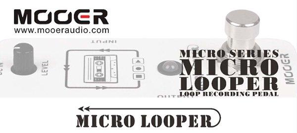 New Mooer Micro Looper Loop Recording Pedal