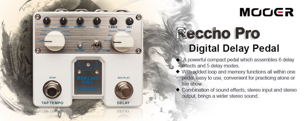 Mooer Audio Reecho Pro Digital Delay Effects Pedal *BRAND NEW