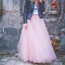 PINK FULL LENGTH TULLE SKIRT BRIDESMAID WEDDING