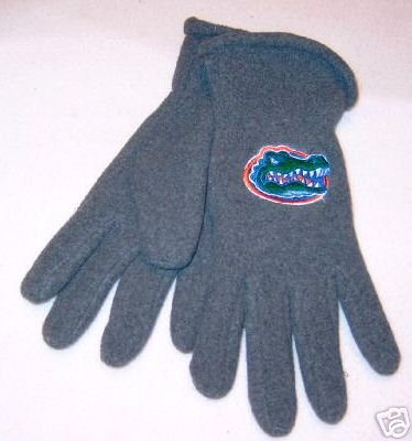 Florida Gators Mens Lightweight Grey Fleece Gloves NWT