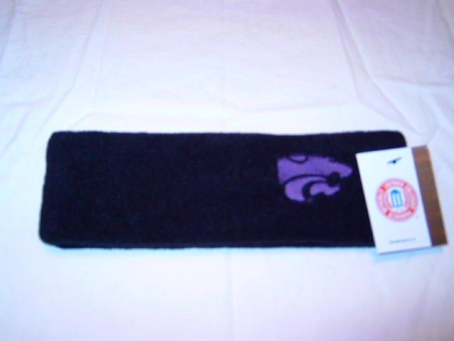 Kansas State Wildcats Black Arctic Fleece Headband