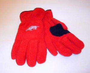 Arkansas Razorbacks Mens Red Lined Fleece Gloves XL