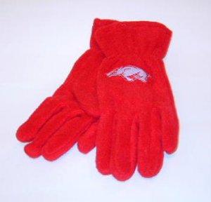 Arkansas Razorbacks Ladies Lightweight Fleece Gloves