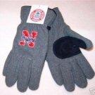 Officially Licensed NCAA Nebraska Huskers Mens Grey Lined Fleece Gloves Medium