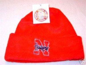 Officially Licensed NCAA Nebraska Huskers Red Arctic Fleece Cuff Cap NWT