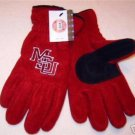 Officially Licensed NCAA Mississippi State Univ. MSU Mens Lined Fleece Gloves M