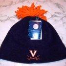 Officially Licensed NCAA Virginia Cavaliers Navy Fleece Tassel Skull Cap NWT