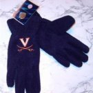 Officially Licensed NCAA Virginia Cavaliers Ladies Lightweight Fleece Gloves NWT