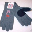 Officially Licensed NCAA Cincinnati Bearcats Grey Mens Lined Fleece Gloves Med