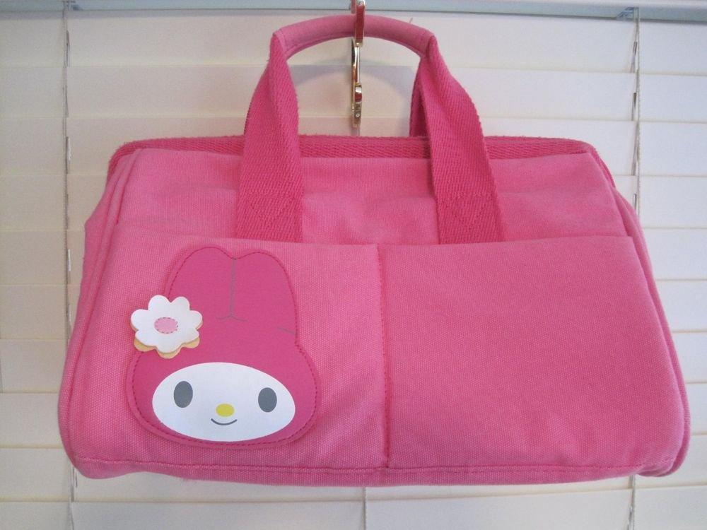 Hot Pink Sanrio My Melody Canvas Speedy Dr Satchel Boston Bag Tote Handbag Purse