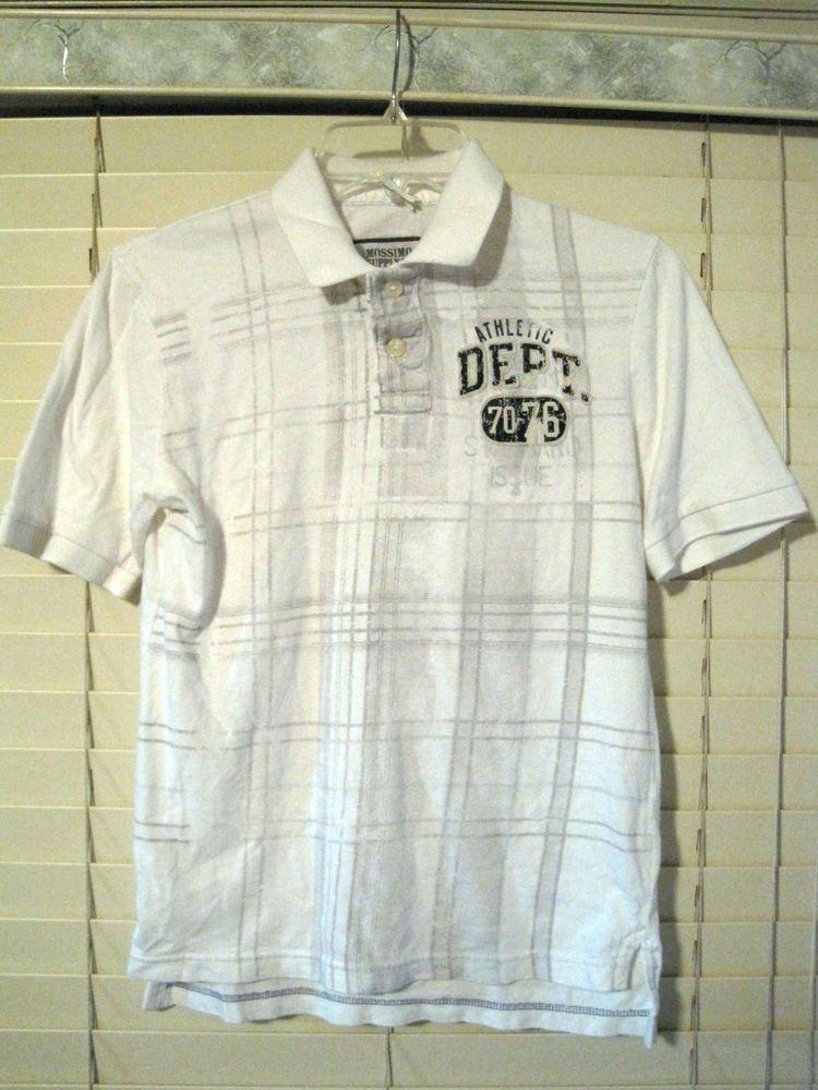 Mossimo Boys Polo Style Shirt Size M (8-10) Medium Gray White Athletic Dept.