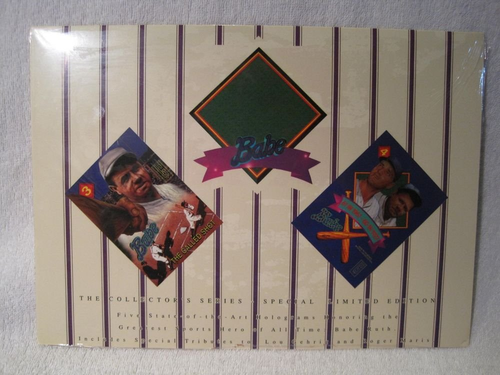 New Sealed Hologram Set Babe Ruth Lou Gehrig Roger Maris Yankees 1992