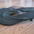 Mossimo Classic Dressy Thong Flip Flops Sandal 5 Black Button Heels