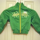Hello Kitty Zip Front Bright Green Track Jacket Size XS Warm Up