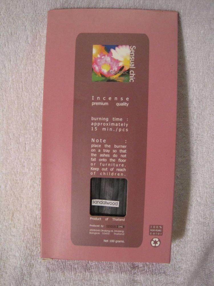 """Thai Sandalwood 5"""" Inch Bulk Incense Sticks (160) Fragrance 100 Grams USA Seller"""