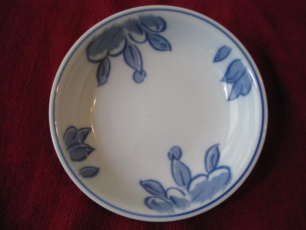 Williams Sonoma IDG Blue/White Dish Plate Dessert Fruit Sauce Cereal