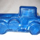 Vintage Lander Antique Car Aftershave Decanter Blue Glass Empty