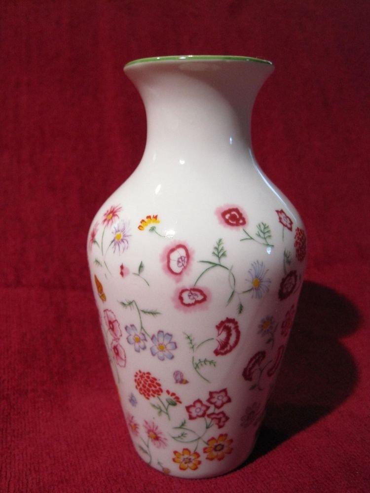 Vase Hallmark Bath Collection Variety of Flowers Pattern Bud