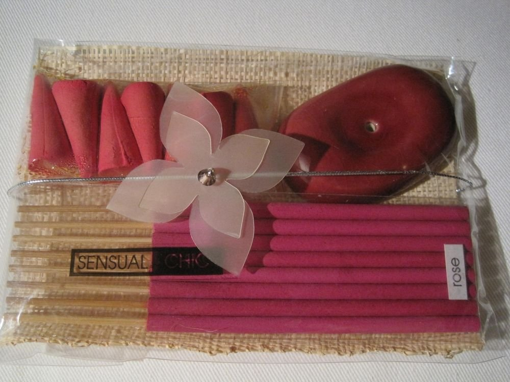 Rose 15pcs Incense Spa Stick/Cone Gift Aroma Fragrance with Holder-USA Seller
