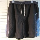 Mens Guy Laroche Paris Active Navy Blue Swim Trunks Board Shorts M 30-32