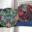 Rare Hulk Spiderman Avengers Superman Batman Marvel/DC Double Sided Sign