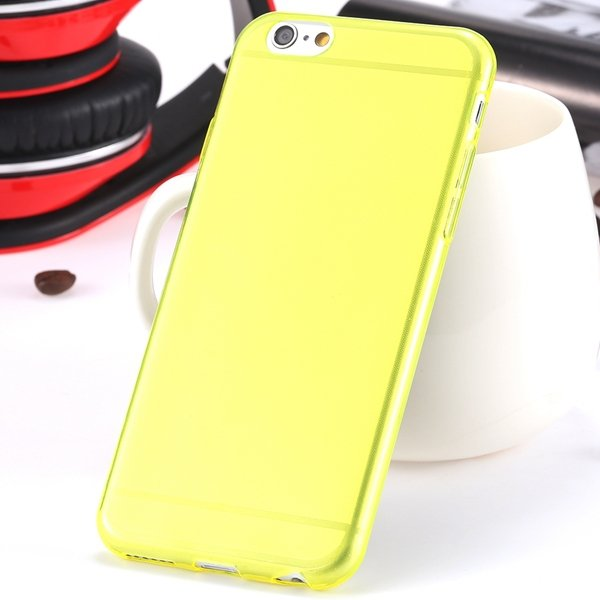 I6 Super Flexible Clear Tpu Case For Iphone 6 4.7Inch Slim Crystal 2024442787-3-Thin yellow